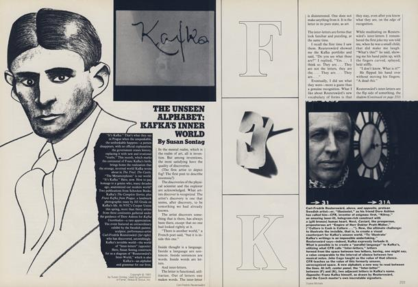 The Unseen Alphabet: Kafka's Inner World