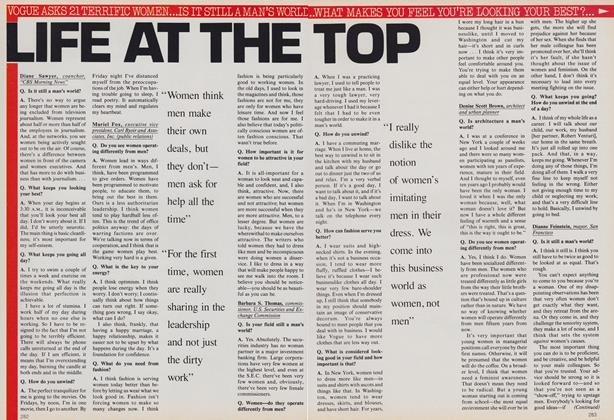 Article Preview: Life at the Top, August 1983 | Vogue