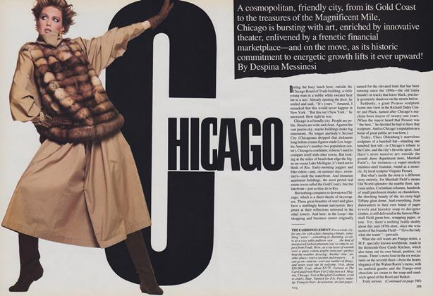 Vogue Special Report—Seven American Cities, Their New Style, Excitement, Pleasures: Chicago