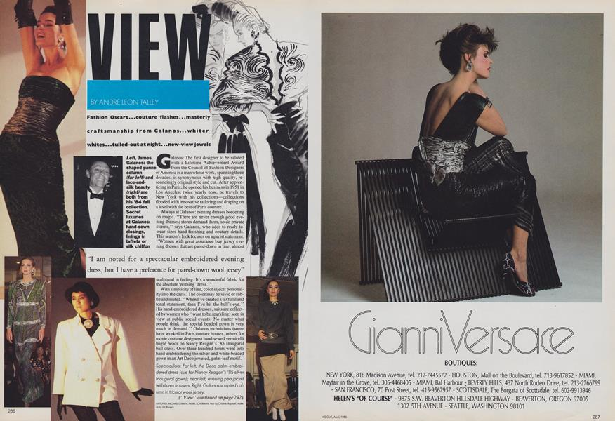 View Vogue April 1985