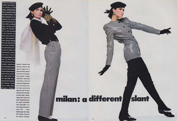 Milan: A Different Slant