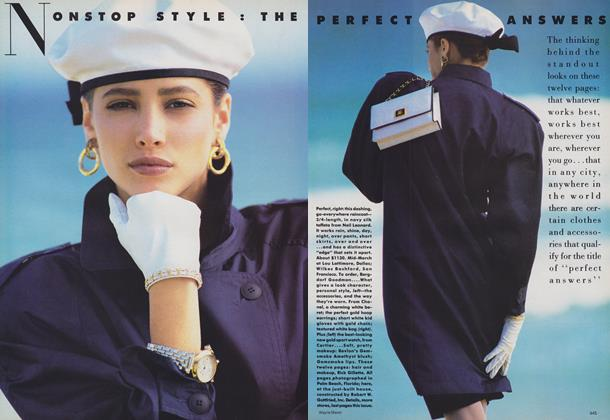 Nonstop Style: The Perfect Answers