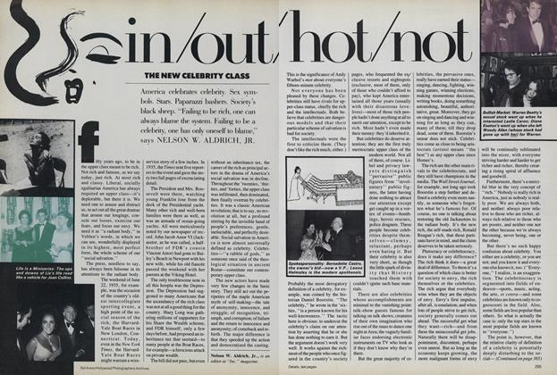 In/Out/Hot/Not: The New Celebrity Class
