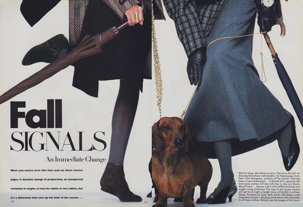 Article Preview: Fall Signals: An Immediate Change, July 1986 | Vogue