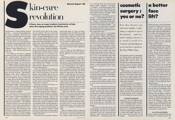 Beauty Report '86: Cosmetic Surgery: Yes or No?