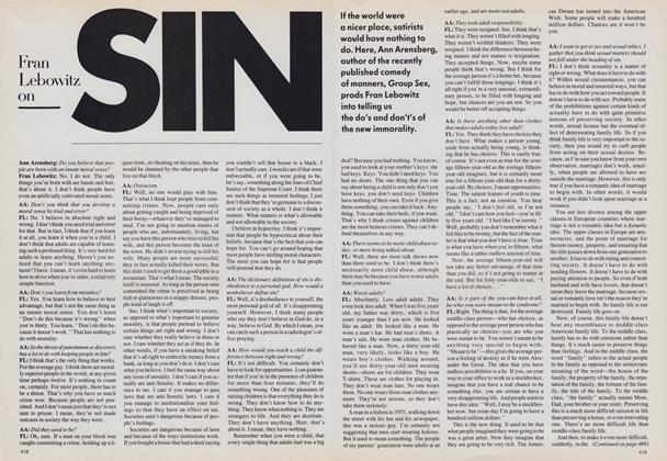 Fran Lebowitz on Sin