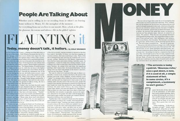 Article Preview: Money: Flaunting It, January 1987 | Vogue