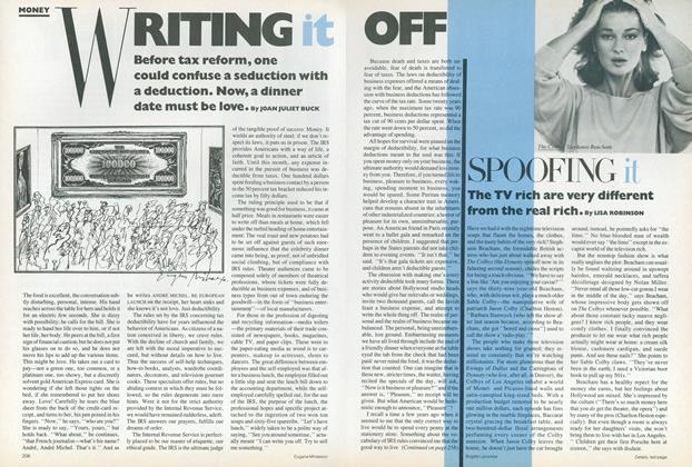 Article Preview: Money: Writing It Off, January 1987 | Vogue
