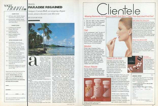 Article Preview: Paradise Regained, January 1987 | Vogue