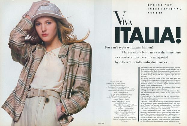 Article Preview: Spring '87 International Report: Viva Italia!, January 1987 | Vogue