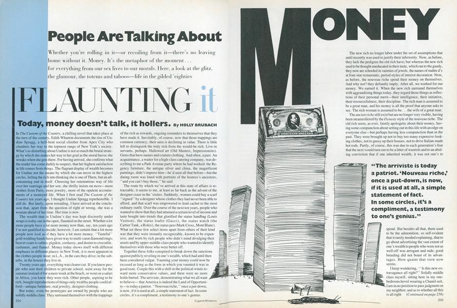 Money: Flaunting It