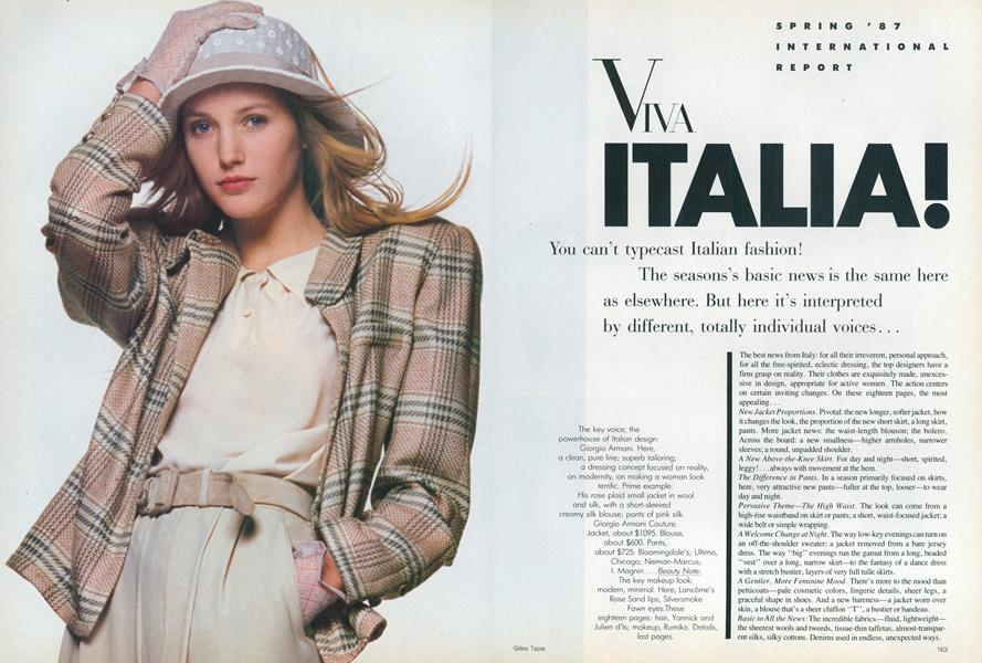 Spring '87 International Report: Viva Italia!