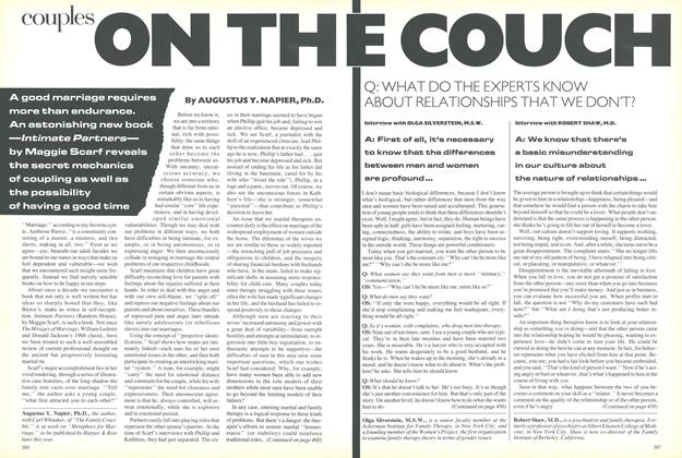 Article Preview: Couples: On the Couch, February 1987 | Vogue