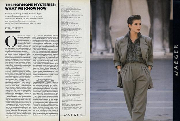 Article Preview: The Hormone Mysteries: What We Know Now, March 1987 | Vogue