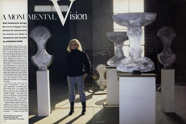 Article Preview: A Monumental Vision, March 1987 | Vogue