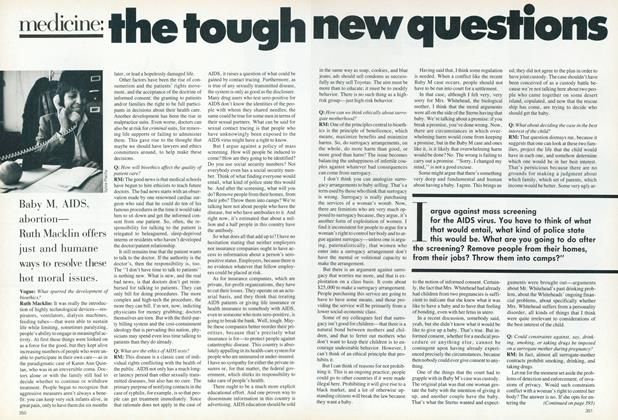 Article Preview: Medicine: The Tough New Questions, April 1987 | Vogue