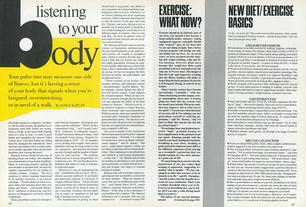 Article Preview: Mind/Body: The New Basics| Listening to Your Body, April 1987 | Vogue