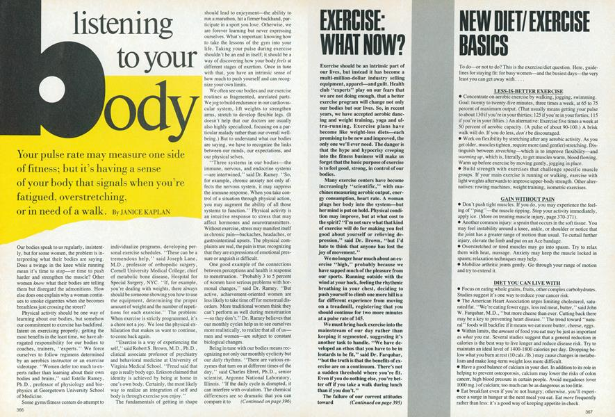 Mind/Body: The New Basics| Listening to Your Body