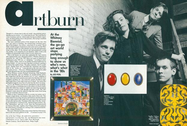 Article Preview: Artburn, May 1987 | Vogue