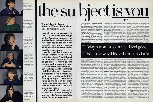 Article Preview: The Subject Is You, June 1987 | Vogue