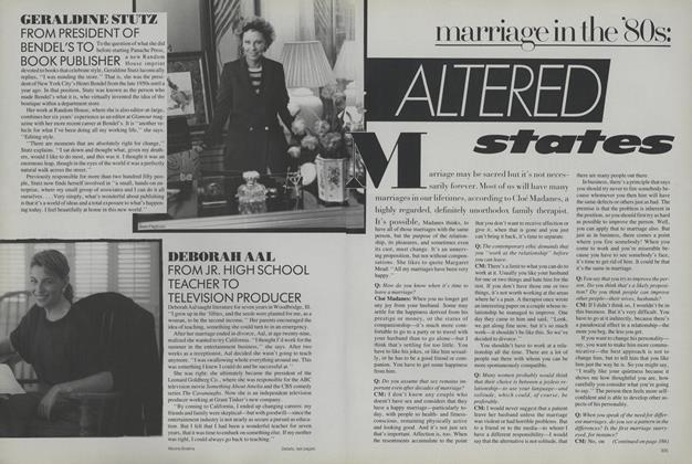 Marriage in the '80s: Altered States