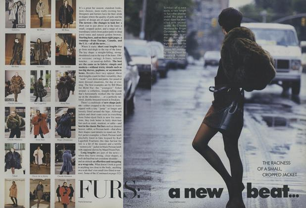 Article Preview: Furs: A New Beat, August 1987 | Vogue