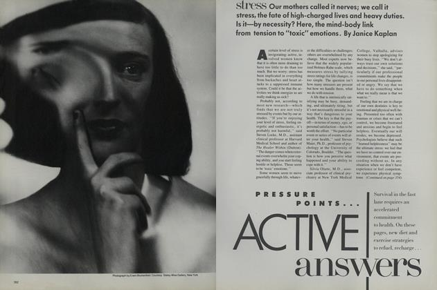 Article Preview: Pressure Points—Active Answers: Stress, August 1987 | Vogue