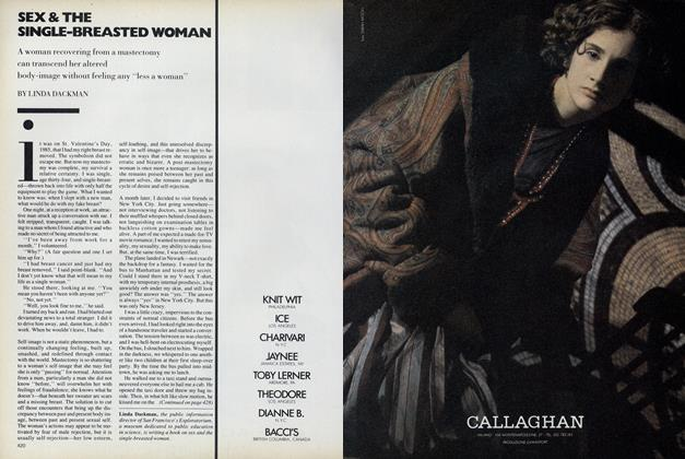 Article Preview: Sex & the Single-Breasted Woman, September 1987 | Vogue