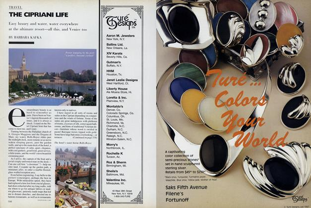 Article Preview: The Cipriani Life, September 1987 | Vogue