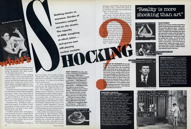 Article Preview: What's Shocking?, September 1987 | Vogue