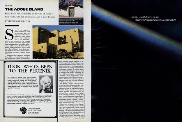 Article Preview: The Adobe Island, October 1987 | Vogue