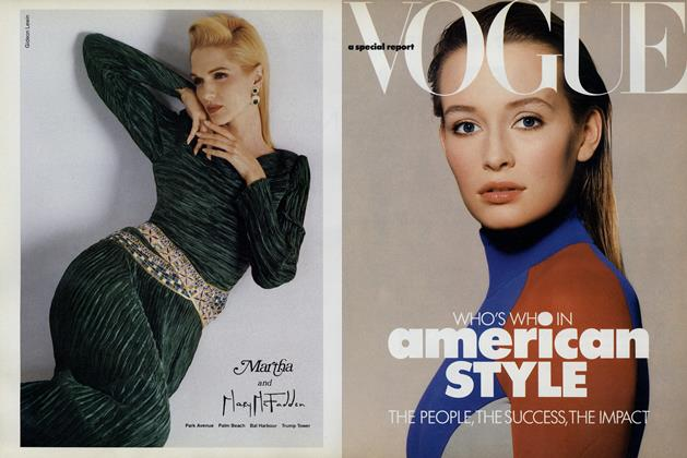 Article Preview: Vogue: A Special Report: Who's Who in American Style, October 1987 | Vogue