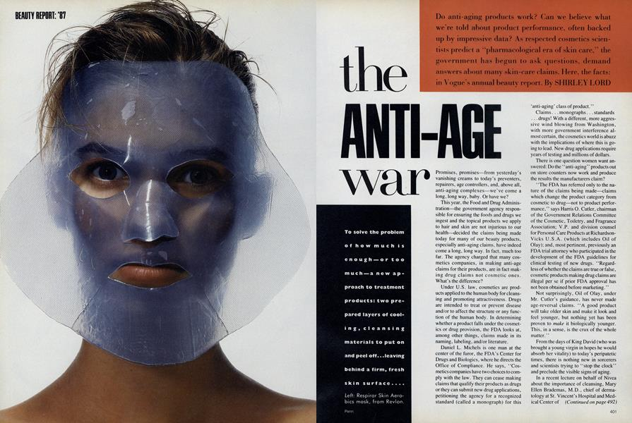 Beauty Report '87: The Anti-Age War