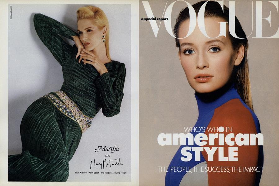 Vogue: A Special Report: Who's Who in American Style