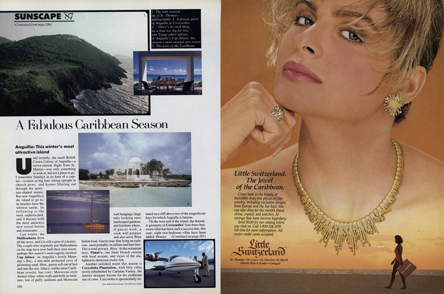 Sunscape '87: A Fabulous Caribbean Season