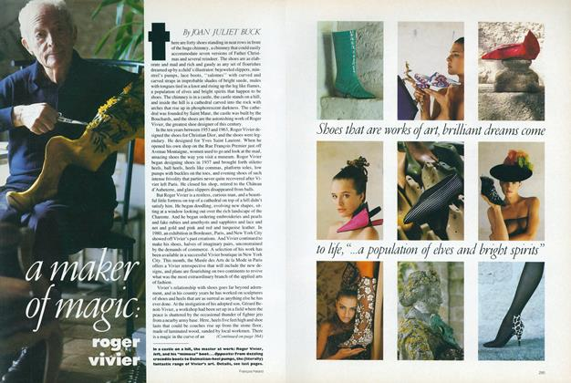 Article Preview: A Maker of Magic: Roger Vivier, December 1987 | Vogue