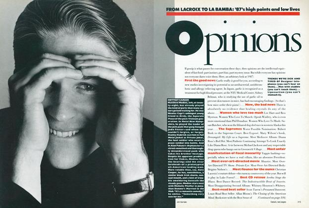 Article Preview: Opinions: From Lacroix to La Bamba—'87s High Points and Low Lives, December 1987 | Vogue