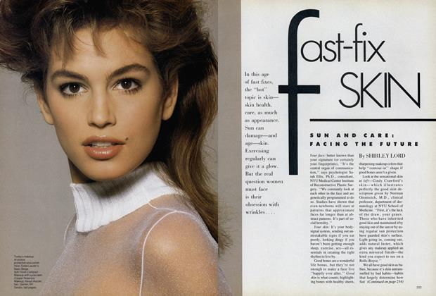 Article Preview: Fast-Fix Skin/Sun and Care: Facing the Future, January 1988 | Vogue