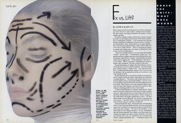Article Preview: Fast-Fix Skin: Fix vs. Lift?, January 1988 | Vogue