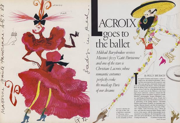 Article Preview: Lacroix Goes to the Ballet, February 1988 | Vogue
