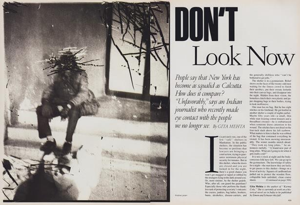 Article Preview: Don't Look Now, March 1988 | Vogue