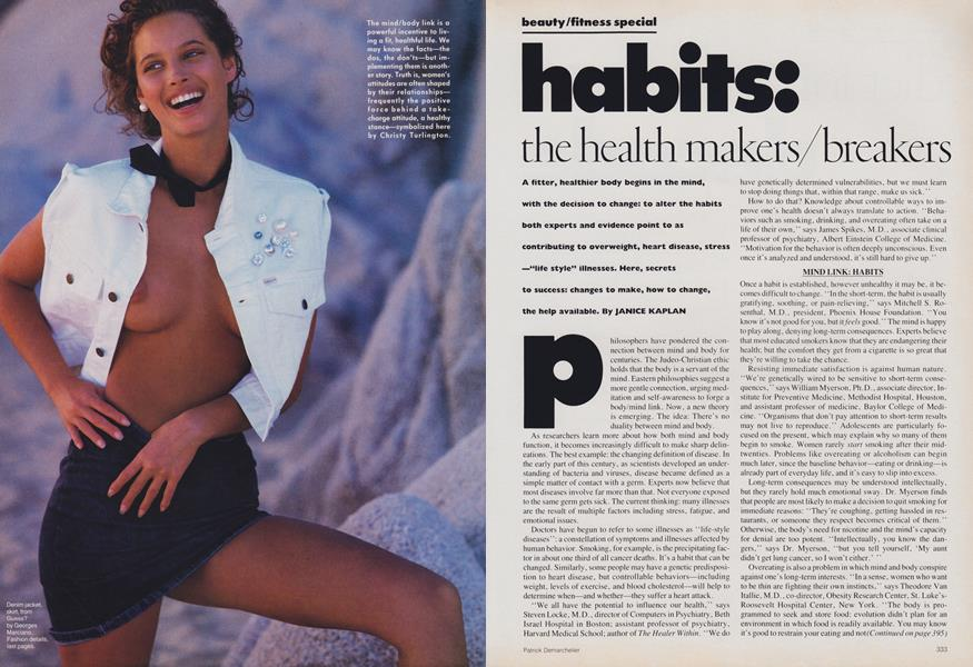 Beauty/Fitness Special: Habits: The Health-Makers/Breakers