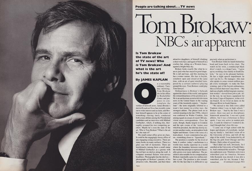 TV News: Tom Brokaw: NBC's Heir Apparent