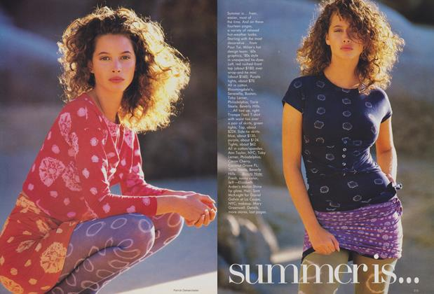 Article Preview: Summer Is..., May 1988 | Vogue