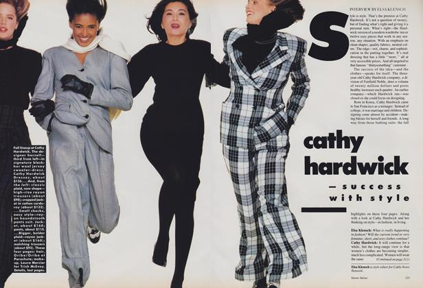 Article Preview: Cathy Hardwick—Success with Style, June 1988 | Vogue