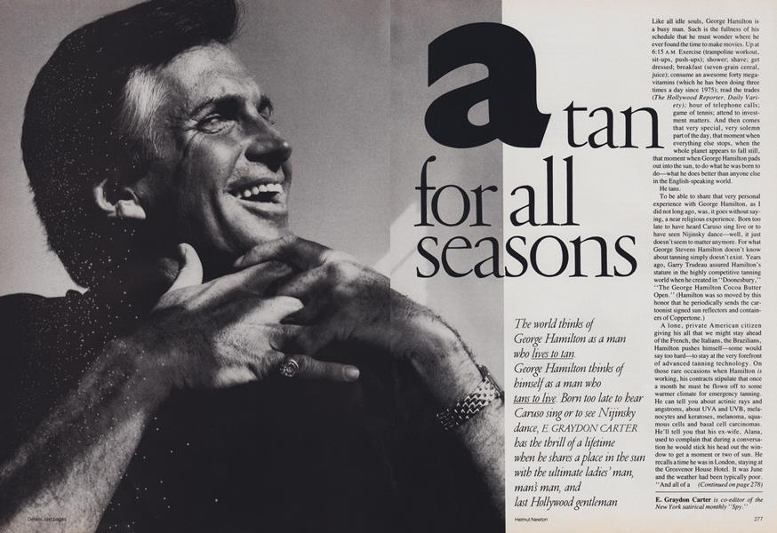 A Few Good Men: A Tan for All Seasons