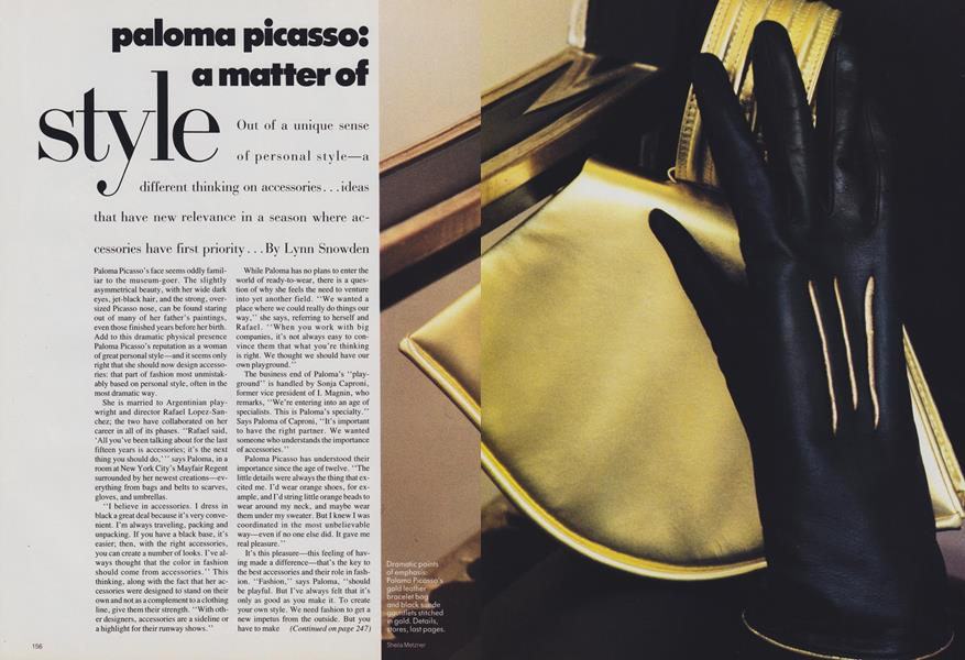 Paloma Picasso: A Matter Style