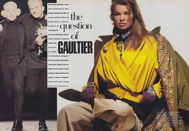 Article Preview: The Question of Gaultier, August 1988 | Vogue