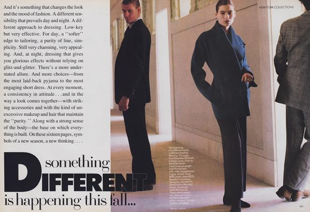 Article Preview: New York Collections: Something Different Is Happening This Fall, September 1988 | Vogue