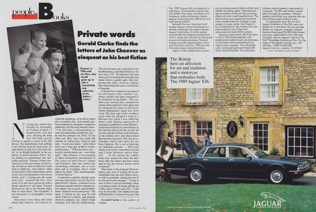 Article Preview: Books: Private Words/Notes, November 1988 | Vogue